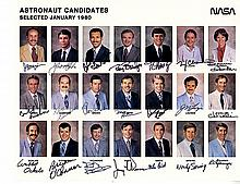 1980s astronaut class signed NASA litho