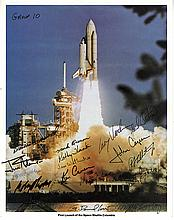 1984 Astronaut Candidates signed NASA color launch litho