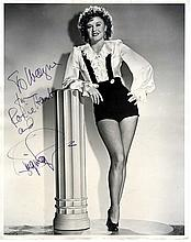Ginger Rogers, Alice Faye - 2 Oversized Portraits, Rogers' Inscribed and Signed