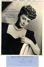 Olivia De Havilland - Magnificent Oversized Inscribed and Signed Portrait And Signed Letter