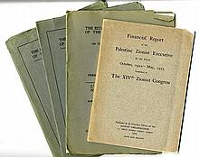 Four 1920s Booklets Re the Establishment in Palestine of the Jewish National Home