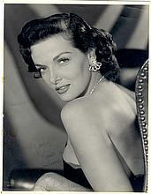 Stunning Oversized Vintage Original Portrait of Jane Russell, Inscribed and Signed