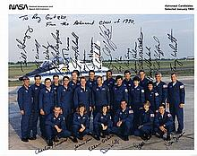 1990 Astronaut Candidates signed NASA color litho