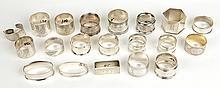 Lot of 20 Antique Sterling Silver Napkin Rings