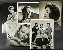 5 Fine Oversized Portraits Including 2 by Clarence Sinclair Bull, Also Myrna Loy, Virginia Bruce and Brenda Marshall