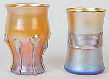 Two Tiffany Favrile Glass Tumblers Early 20th Century