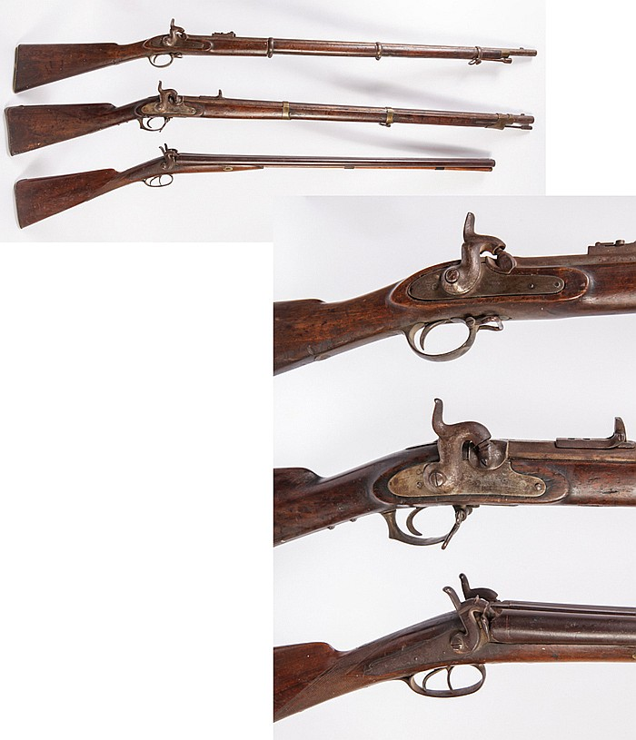 Lot of Three Civil War long guns 1850-60's