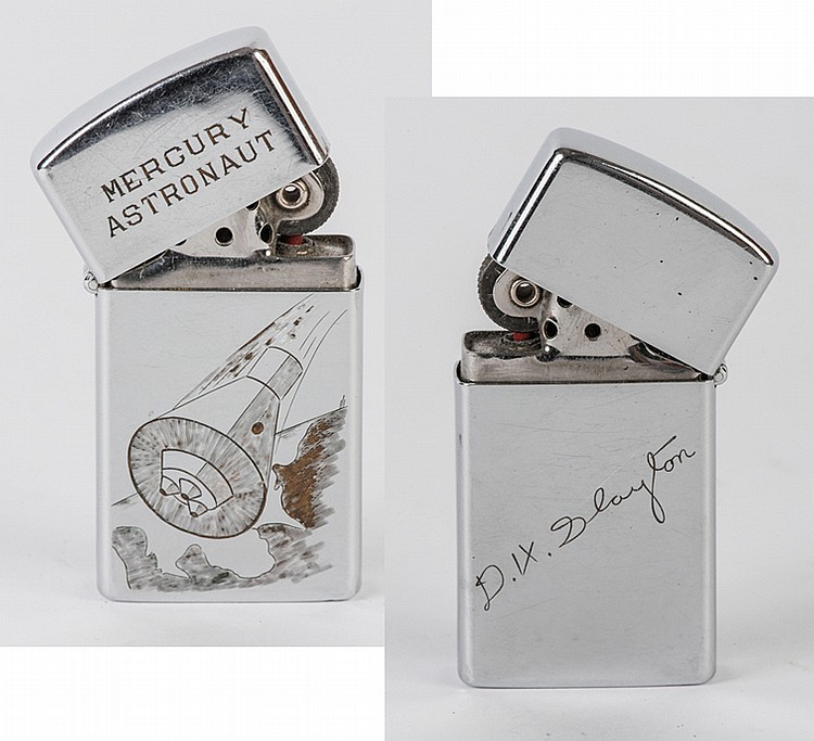 "Mercury Program, c1960s, Deke Slayton's ""Mercury Astronaut"" Zippo Lighter"