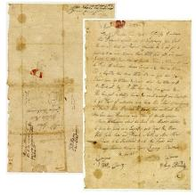 Letter Dated 1783, Wilkes County, Georgia Colony Regarding Indians, Treaty