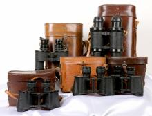 Alexander White III Collection of Vintage Military Binoculars 5 Pieces