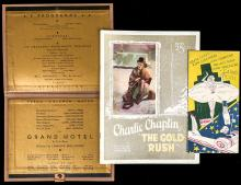 Rare Grauman's Theaters World Premiere Film Programs, Charlie Chaplin's The Gold Rush and Two for Grand Hotel