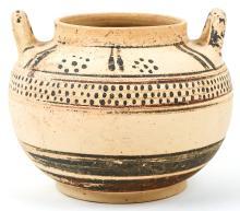 Mycenaean Pottery. Two-handled Storage Jar, circa 1300-1100 BC