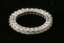 Lady's Diamond, 14K White Gold Eternity Band