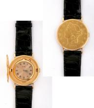 Gent's Piaget US $20 Flip Gold Coin Watch