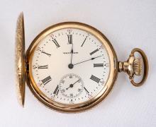 Waltham, 14K Yellow Gold Hunting Case Pocket Watch