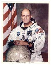 1960s Apollo 10 Tom Stafford signed NASA color lithos (x2)