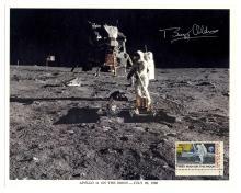 1969 Apollo 11 Buzz Aldrin signed NASA color lithos (x5)