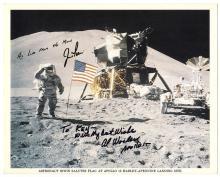 1971 Apollo 15 Al Worden & Jim Irwin signed lunar surface litho