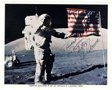 1972 Apollo 17 Gene Cernan signed NASA lithos