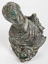 Roman Bronze Bust of a Youth, circa 1st Century AD, Julio-Claudian period