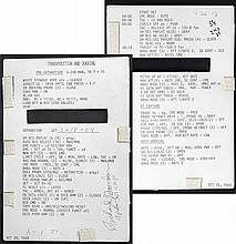 1969 Apollo 12 FLOWN Transposition & Docking Checklist