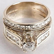 Lady's Diamond, 14K White Gold Wedding Ring Set