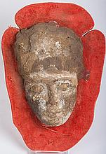 Egyptian Wooden Kah Mask. Late Dynastic Period. Circa 1085-525 B.C.