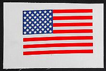c.1970s USA Flag & NASA Meatball Beta Cloths