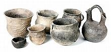 Group of Seven Rappahannock River Pots - Native American Mounds
