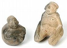 Two Human Effigy Pots from the Mississippian Culture