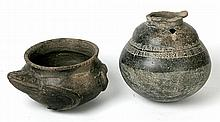 Frog Pot and Tall Pot- Rappahanock River Mound Startzman Collection