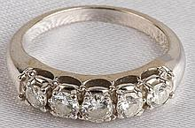 Lady's Diamond, 14K White Gold Band Ring