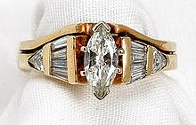 Lady's Diamond, 14K Yellow Gold Wedding Ring Set