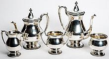 Five Piece English Sterling Coffee and Tea Set