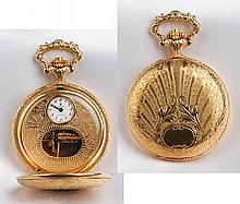Rare 10K Gold Plated Reuge Musical Hunting Case Pocket Watch