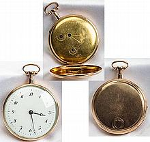 Rare Musical & Repeating 14K Yellow Gold Open Face Pocket Watch