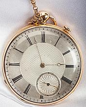 Antique 14K Yellow Gold Open Face Pocket Watch