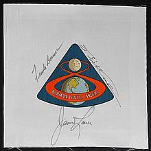 A1969 Apollo 8 Crew Signed Beta Cloth Patch