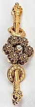 Etruscan 14K Yellow Gold, Diamond Brooch