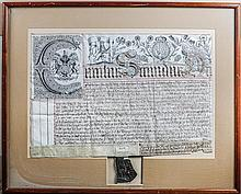 17th Century Deed of Common Recovery, From One Knight to Another