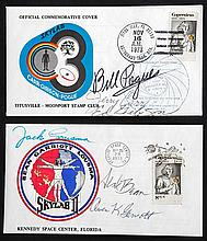 1973 Skylab Crew Signed Covers (x2)