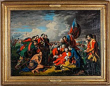 After Benjamin West. The Death of General Wolfe
