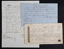 Three Slave Documents Pertaining to CSA General William Mahone
