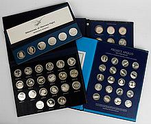 1970s Sterling Silver Space Themed Medallion Sets
