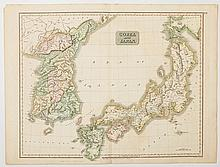Korea and Japan, Early 19th Century Map