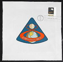 1968 Apollo 7, Apollo 8 & Apollo 9 Crew Patch Beta Cloth Patches