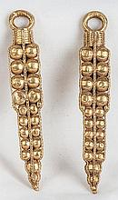 Large Pair of Byzantine Gold Earrings, Balkan Region, Circe 6th-8th Century A.D.