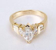 Lady's Diamond, 14K Yellow Gold Ring
