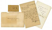 Two Maryland Letters to Gideon Wells & Two Lincoln Cabinet Officers