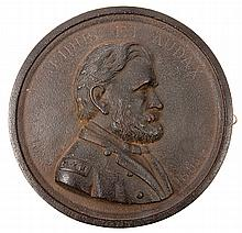 Grant, Ulysses S.- Commemorative Grant Silhouette Cast Iron Plaque